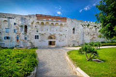 Great stone wall of old Split historic centre Stock Photo