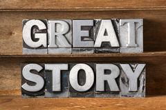 Great story tray royalty free stock photo