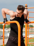 Great street workout. Stock Images