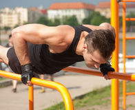Great street workout. Stock Image