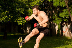 Great street workout. Royalty Free Stock Image