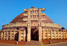 Great stupa of sanchi India, Buddhist monuments world heritage Royalty Free Stock Photography