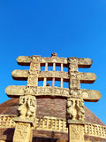 Great stupa of sanchi India, Buddhist monuments world heritage Royalty Free Stock Photos