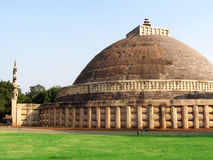Great stupa of sanchi India, Buddhist monuments world heritage Royalty Free Stock Images