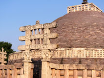 Great stupa of sanchi India, Buddhist monuments world heritage Stock Photography
