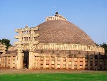 Great stupa of sanchi India, Buddhist monuments world heritage Stock Images