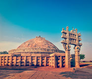 Great Stupa. Sanchi, Madhya Pradesh, India Stock Photo