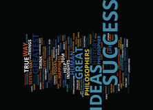 Great Success Ideas Text Background Word Cloud Concept Stock Image