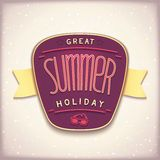Great summer holiday label Royalty Free Stock Images