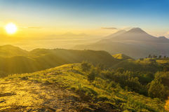Great sunrise at prau mount Stock Images