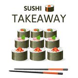 Great sushi set Royalty Free Stock Image