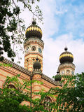 Great synagogue, Budapest. Towers of the Great synagogue, Budapest, Hungary Stock Image