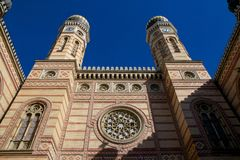 The Great Synagogue in Budapest Stock Photography