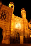 The Great Synagogue in Budapest (Hungary) at night Stock Photography
