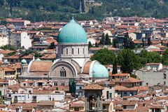 The Great Synagogue of Florence stock images