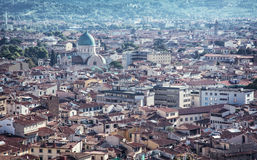 Great Synagogue in Florence city, Italy, urban scene Stock Image