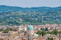 The Great Synagogue of Florence, Italy. The Great Synagogue of Florence or Tempio Maggiore, built by Falcini, Micheli and Treves, in Florence, Italy Royalty Free Stock Photography