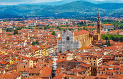 Great synagogue of florence top view Stock Image