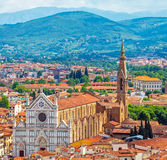 Great synagogue of florence top view Royalty Free Stock Photos