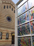 The Great Synagogue and Holocaust Memorial stained glass, Budapest, Hungary Stock Images
