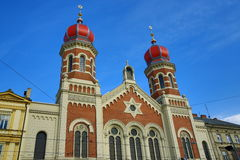Great Synagogue , od architecture, Pilsen, Czech Republic Royalty Free Stock Photos