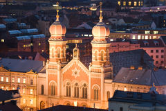 The Great Synagogue in Pilsen Stock Photography