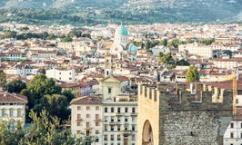 Great Synagogue and San Niccolo in Florence, Italy, cultural her Stock Images