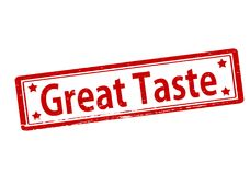 Great taste. Rubber stamp with text great taste inside,  illustration Royalty Free Stock Image