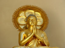 Great Teacher. Buddha statue in Peace Pagoda Leveret Massachusetts royalty free stock photos
