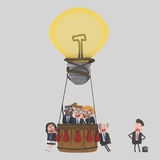 Great teamwork idea and loser businessman. 3D. NCustom illustration, contact me Royalty Free Stock Photos