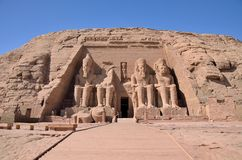 The Great Temple of Abu Simbel Stock Images