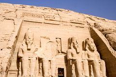 The Great Temple of Abu Simbel Stock Photography