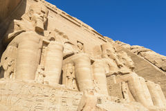 The Great Temple of Abu Simbel (Egypt) Stock Images