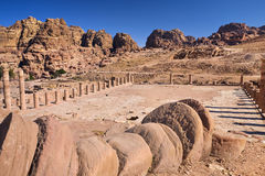 The Great Temple in Petra Royalty Free Stock Images