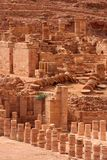 Great temple in Petra,. Jordan Royalty Free Stock Photo