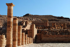 The Great temple, Petra. The Great Temple ruins in Petra, Jordan Royalty Free Stock Photography