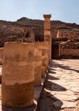Great Temple Pillars at Petra Stock Photography