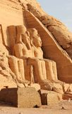 The Great Temple of Ramesses II. Abu Simbel, Egypt. The Abu Simbel temples are two massive rock temples in Abu Simbel in Nubia, southern Egypt. They are Royalty Free Stock Image