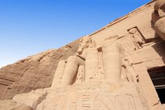 The Great Temple of Ramesses II. Abu Simbel, Egypt. Stock Photos