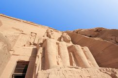 The Great Temple of Ramesses II. Abu Simbel, Egypt. Stock Image