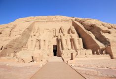 The Great Temple of Ramesses II. Abu Simbel, Egypt. Royalty Free Stock Images