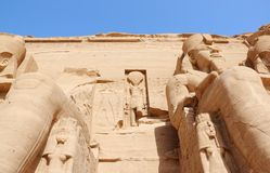 The Great Temple of Ramesses II. Abu Simbel, Egypt. Royalty Free Stock Photo