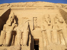 Great Temple of Ramesses II Stock Images