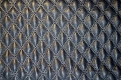 Blue quilted leather Royalty Free Stock Photo