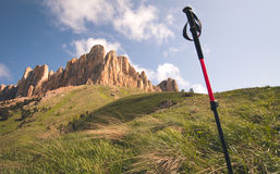 Great Thach Mountain rocks and trekking pole Landscape Stock Photos