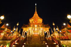 The great of Thai architecture, finest art of Thai Royalty Free Stock Photos