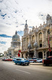 Great Theater Gran Teatro and Capitolio - Havana, Cuba. Great Theater Gran Teatro and Capitolio in Havana, Cuba Royalty Free Stock Image