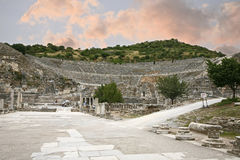 Great theatre in Ephesus ancient city Royalty Free Stock Photography