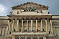 Great Theatre in Warsaw. Front facade of the Great Theatre in Warsaw. Poland royalty free stock photography