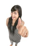 Great thumb up Royalty Free Stock Photo